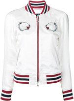 GUILD PRIME bear embroidered bomber jacket