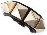 Valentino Medium Rockstud Leather Bracelet
