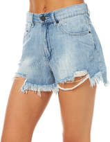 The Fifth Label Hi Stress Womens Denim Shorts Blue