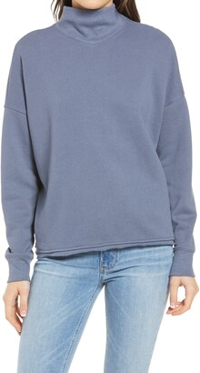 Madewell Mock Neck Hemp & Cotton Sweatshirt