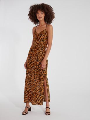 J.o.a. Tie Waist Midi Dress