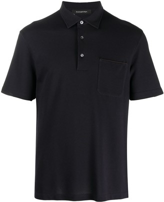 Ermenegildo Zegna Short-Sleeve Polo Shirt