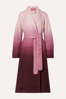 F.R.S For Restless Sleepers Belted Ombre Wool-twill Coat - Plum