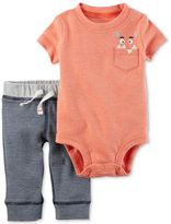 Carter's 2-Pc. Monster-Pocket Bodysuit and Pants Set, Baby Boys (0-24 months)