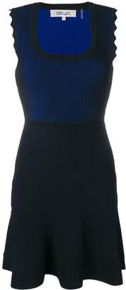 Diane von Furstenberg contrast panel short dress