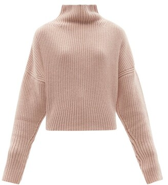 Petar Petrov Nan High-neck Ribbed Cashmere Sweater - Light Pink