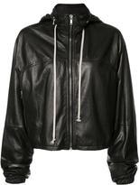 Rick Owens oversized leather windbreaker