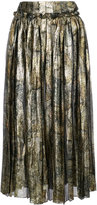 Maison Margiela metallic pleated skirt - women - Silk/Polyester/Spandex/Elastane - 38