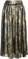Maison Margiela metallic pleated skirt