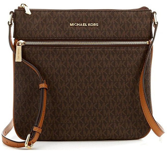 Michael Kors Women's Crossbodies Brown/Acorn - Bown Bedford Signature Crossbody Bag
