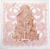 Hermes Les Rivieres De Babel By Annie Faivre Silk Scarf