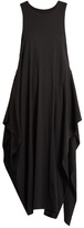Stella McCartney Racer-back fluted cotton-jersey cover-up