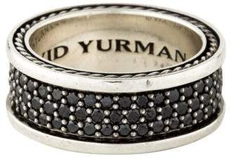 David Yurman Black Diamond Three-Row Streamline Band
