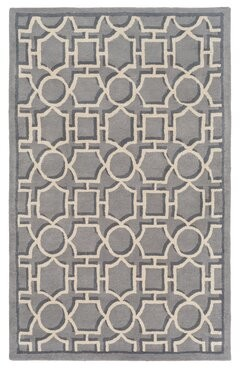 Surya Vreeland Hand-Tufted Wool Gray Area Rug Rug Size: Rectangle 9' x 12'