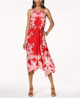 INC International Concepts I.n.c. Petite Printed Handkerchief-Hem Halter Dress, Created for Macy's
