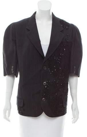 Antonio Marras Embellished Pinstripe Blazer w/ Tags