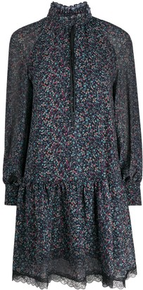 See by Chloe Floral Haze print frill dress