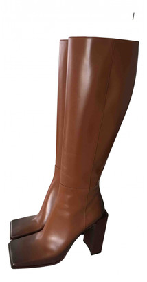Balenciaga Brown Leather Boots