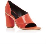 Tibi Burnt Orange Dillon Semi-Closed Sandals