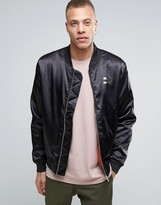 Puma Luxe Bomber Jacket In Black