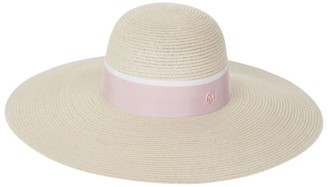 Maison Michel Wide Brim Straw Hat