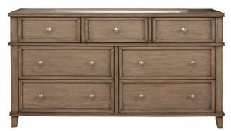 One Allium Way Cleymans Mahogany Wood 7 Drawer Double Dresser