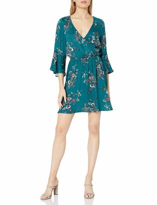 MinkPink Women's Secret Garden Floral Print Wrap Dress