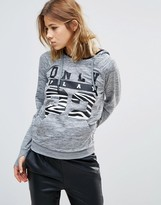 Only Play Zebra and Gray Hood Sweat