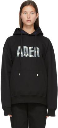 Ader Error SSENSE Exclusive Black Tape Logo Hoodie