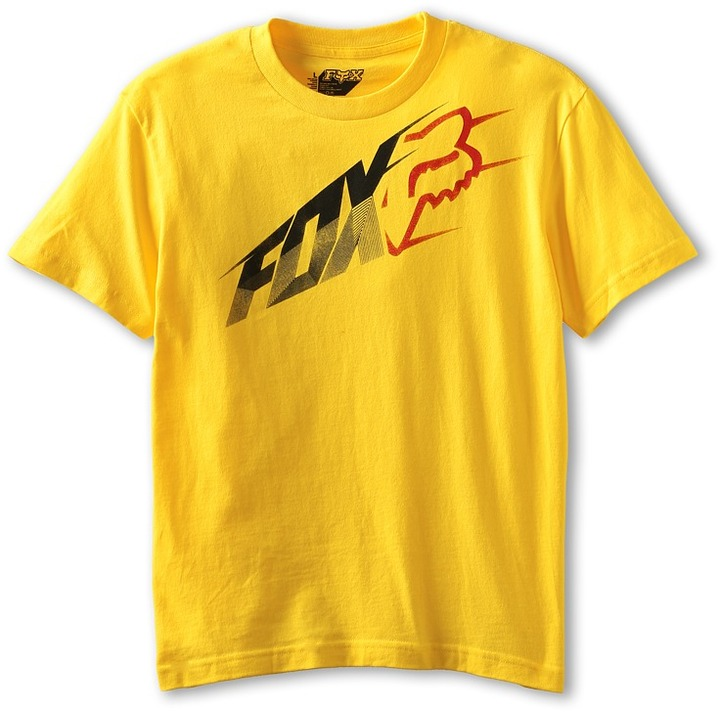 Fox Avail S/S Tee (Big Kids) (Yellow) - Apparel