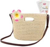 Donalworld Lady Woven Straw Beach Bags Shoulder Bags Clip Hook Handbag