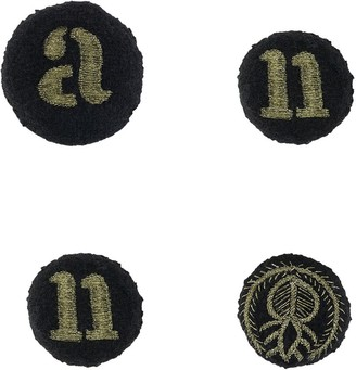 Ann Demeulemeester Embroidered Typography Brooches