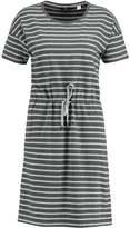 Gant DROPPED SHOULDER STRIPED Jersey dress antracit melange