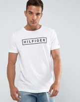 Tommy Hilfiger Axel T-Shirt Logo Print Regular Fit In White