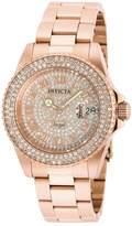 Invicta Women's Angel Rose Gold-Tone Steel Bracelet & Case Swiss Quartz Analog Watch 90256