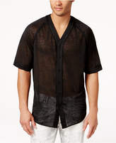 GUESS Men's Wynn Mesh Baseball Shirt
