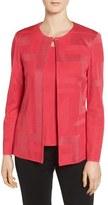Ming Wang Women's Collarless Knit Jacket