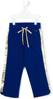 Simonetta side stripe sweatpants - kids - Cotton/Spandex/Elastane - 4 yrs