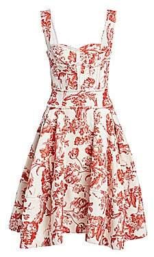 104a584c4a5 Oscar de la Renta Women s Floral Corset Dress
