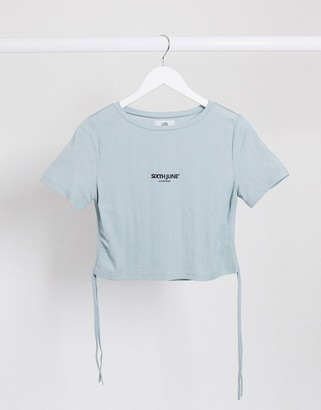 Sixth June cropped t-shirt with ruched sides