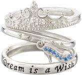 Chamilia Silver Disney Cinderella Stacker Ring Set Size M