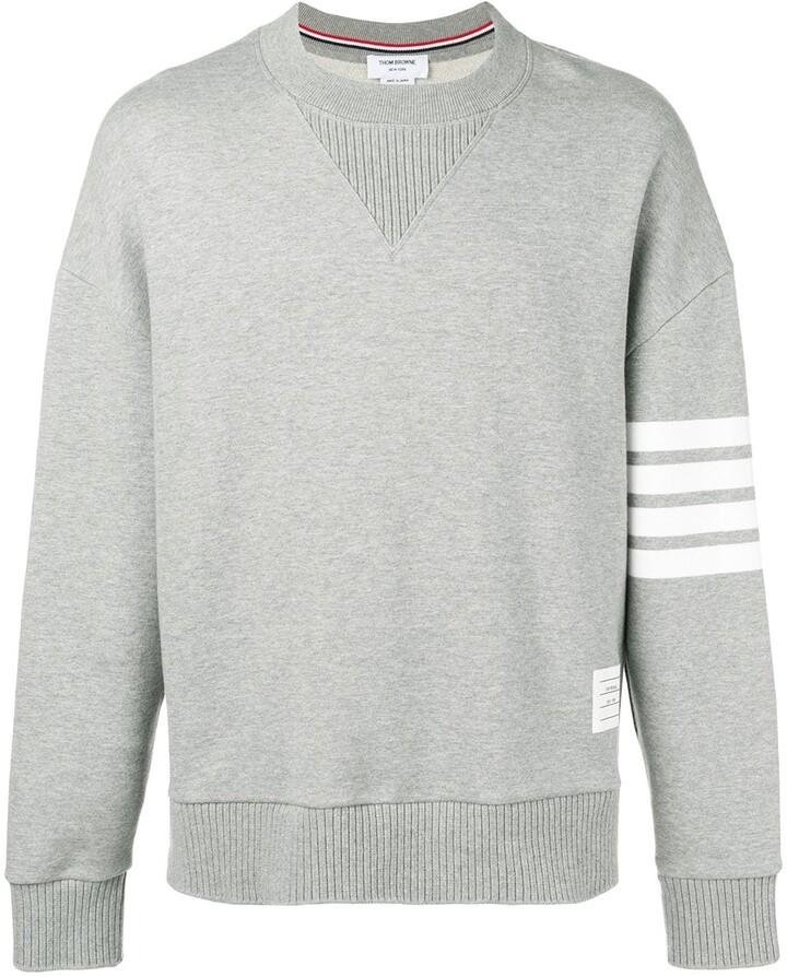 Thom Browne 4-Bar Oversized Loopback Sweatshirt