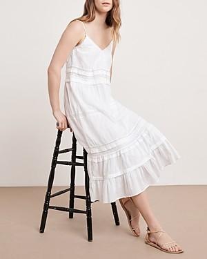 Velvet by Graham & Spencer Zuly Cotton Lace-Trim Midi Dress