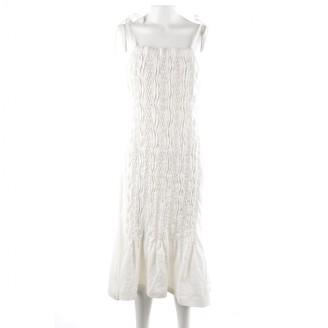 Jil Sander White Linen Dresses