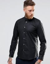 Paul Smith PS by Shirt With Contrast Under Cuff In Black Tailored Slim Fit
