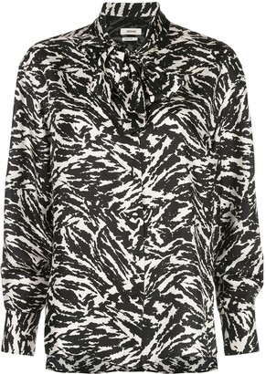 Jason Wu Abstract Print Pussybow Blouse