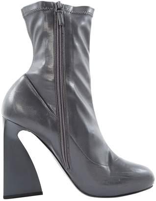 Stella McCartney Stella Mc Cartney Grey Leather Ankle boots