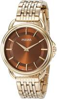 Pulsar Women's PM2134 Analog Display Japanese Quartz Gold Watch