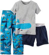 Carter's Whale 3-pc. Pajama Set - Baby Boys 12m-24m