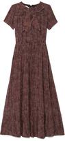Marc Jacobs Preorder Sketch Check Crepe De Chine Bow Neck Dress